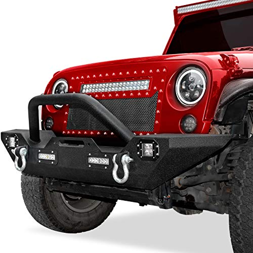 LEDKINGDOMUS Front Bumper Compatible with...