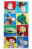 Toy Story Disney 4 Toalla de baño con 8 Personajes, Toalla de Playa de algodón 100% para...