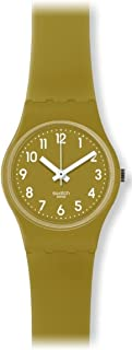 Swatch Women's LG122C Green Trace Year-Round Analog Quartz Green Watch