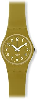 Swatch Women's LG122C Green Trace Year-Round Analog Quartz Green Watch