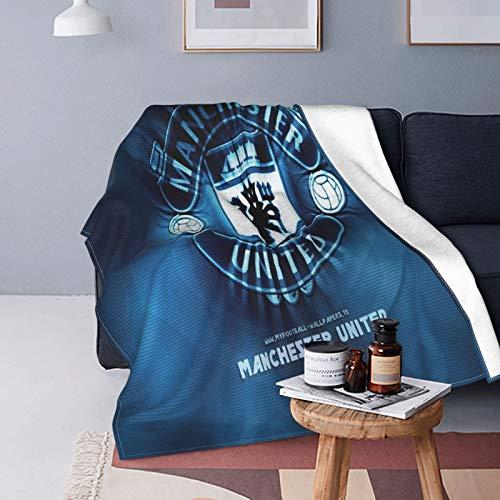 Manchester United - Mantas de forro polar de franela impresas en 3D para niños, adolescentes y adultos, súper suave, mullida y cálida manta sherpa para cama de vacaciones, sofá