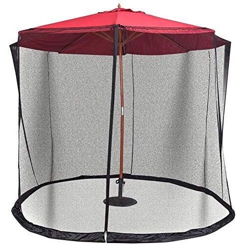 Moustiquaire pour parasol, Jardin extérieur Housse de moustique Patio Umbrella Cover Mosquito Netting Screen with Insect-Proof Design Zippered Mesh En