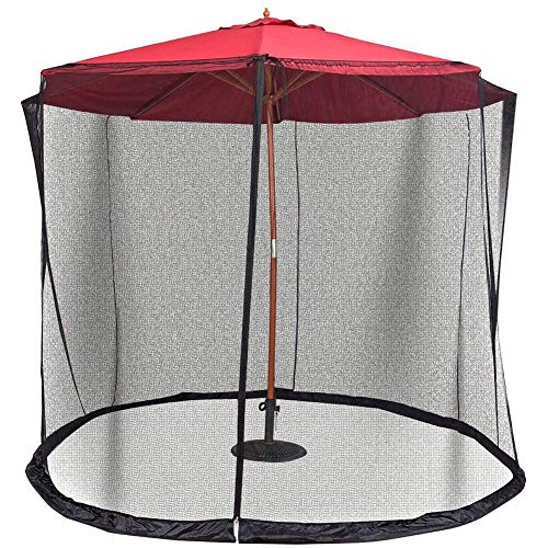 Cubierta de sombrilla para Patio al Aire Libre Pantalla de mosquitera con diseño a Prueba de Insectos Cubierta de Malla con Cremallera, Adecuada para Seguridad de sombrilla de Camping en Pat