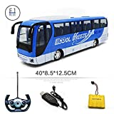 MEILA RC Bus Child Toy Bus Bus Control remoto Car Boy Gift Simulación Sonido y luz Modelo de automóvil Express City Bus Autobús escolar con sonidos realistas y juguetes eléctricos ligeros for niños