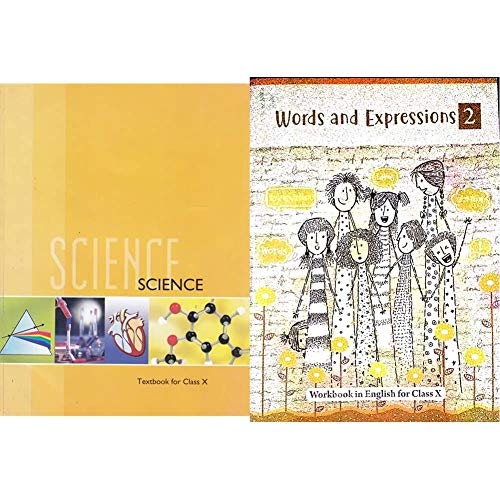 Science Textbook for Class 10- 1064 + Words and Expressions - 2 (Workbook in English for Class X) (Set of 2 Books)