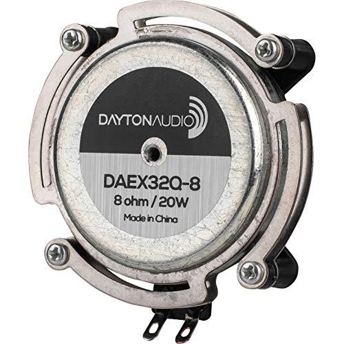 Dayton Audio DAEX32Q-8 Dual Steel Spring Balanced 32mm Exciter 20W 8 Ohm