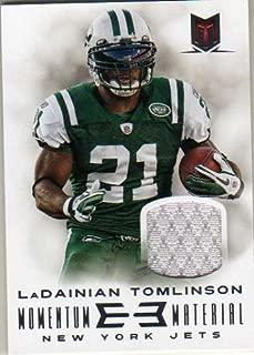 2013 Momentum Materials #93 LaDainian Tomlinson Game-Worn Jersey Card Serial #'d/199
