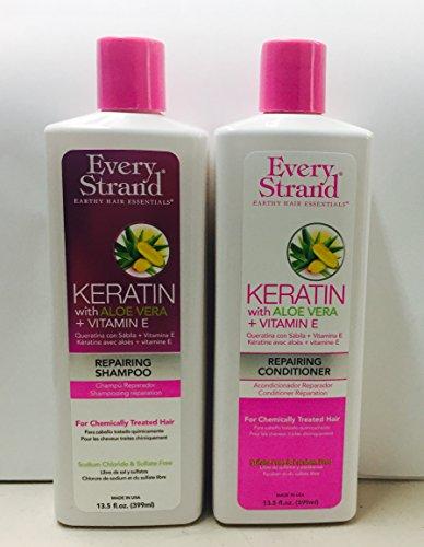 Every Strand Keratin With ALOE VERA + VITAMIN-E Repairing Shampoo & Repairing Conditioner 13. FL. OZ...