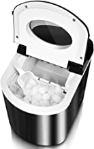 Air Choice Ice Maker - Portable Ice Maker Machine for Countertop, Ice Bullets Ready in 6~8 Mins, 26 lbs/Day, LED Display, Timer, Stainless Steel, Ice Scoop and Basket, Perfect for Party Mixed Drinks