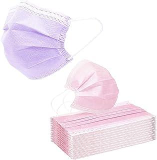 VESNAHOME 100 protezioni per viso monouso, colore raro, rispettose della pelle, copertura affidabile, raccomandato per uom...