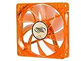 Logisys Corp. 120mm Orange Cooling Fan Case with Green LED CF120OG