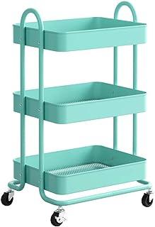 WZHZJ Cuisine Réfrigérateur Support de Rangement côté Tablette Amovible Utilitaire sur roulettes Salle de Bain Organisateu...