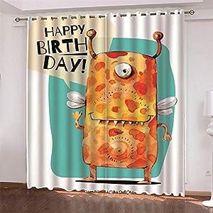 【Tamaño estándar】: Esta cortina perforada de sombreado y aislamiento térmico se vende en cada juego, incluidos 2 paneles. El tamaño estándar de cada panel de cortina es 110x215cm. El tamaño total es: 220x215cm. Fácil de colgar y deslizar sin problema...