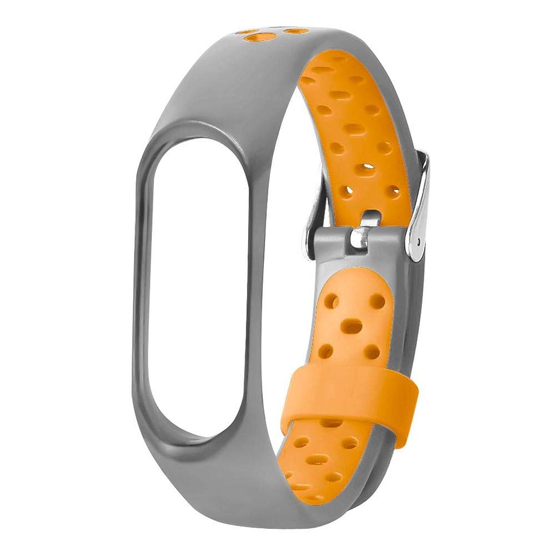 部分的に絶望的なアイスクリームcasualcatch for Xiaomi M3バンド 柔らかいTPU 全面保護 軽量 快適 スマートウォッチ交換ベルト 腕時計ベルト スポーツ仕様 オレンジ