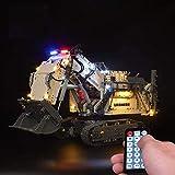 ZJLA Kit de luz LED RC para Lego 42100 Technic Liebherr R 9800 Excavadora (no incluye modelo Lego)