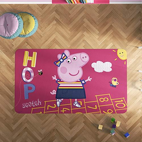 Oedim Alfombra PVC Peppa Pig Rayuela   165 x 95 cm   Producto Oficial y Original   Suelo vinílico   Decoración del Hogar   Peppa Pig  