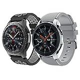 Yayuu Gear S3 Frontier/Classic Correa de Reloj, Reemplazo de Banda de Silicona Suave Deportiva Pulsera de Repuesto para Samsung...