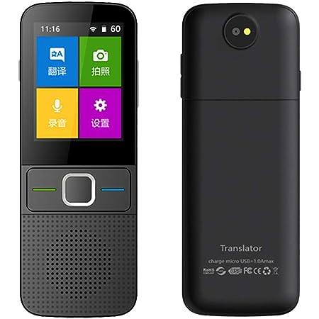 TOPQSC Traduttore Istantaneo Vocale,touch screen da 3,0 pollici Chat di gruppo di supporto del traduttore WiFi//offline registrazione bidirezionale//traduzione di foto con 107 lingue per viaggi daffari