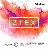 D'Addario Bowed Jeu de cordes pour violon D'Addario Zyex, manche 1/16, tension Medium