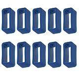 MagiDeal 10 STK Ersatzteile Loop Schlaufe Silikon Armband Halter Schnalle 16mm - Farbe Auswählen - Blau