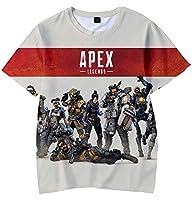 Apex Legends ボーイズ Tシャツ 3Dプリント エーペックスレジェンズ キャラクター ト 半袖 シャツ (L)