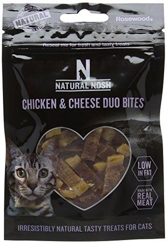Rosewood Natural nudelsnack kip en kaas Duo bites voor katten, 50 gm, 18 stuks