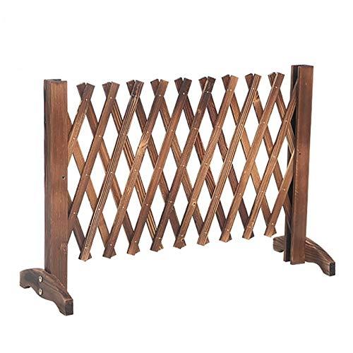 Erweiterender Holzzaun, freistehender Holzgarten Gitter, einziehbarer Gitter-Weihnachtsbaumzaun, for Gärtner und Tierbesitzer (Size : 120cm)