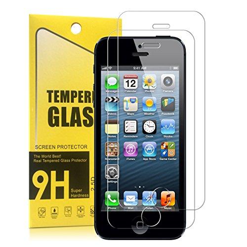 Pellicola Vetro Temperato iPhone SE 5s 5c Protettiva Proteggi Gli Schermo Contro Graffi e Gocce H9 - Per All Apple iPhone 5, Facile da Pulire Garanzia a Vita