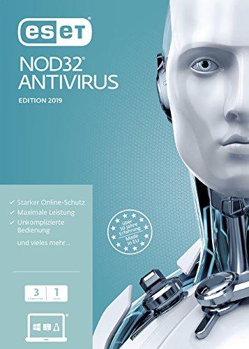 ESET NOD32 Anivirus 2019 | 3 User | 1 Jahr Virenschutz | Windows (10, 8, 7 und Vista) | Frustfreie Verpackung