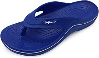 LUFFYMOMO Mens Arch Support Sandals Sport Toe-Post Flip Flop Casual Comfort Thong
