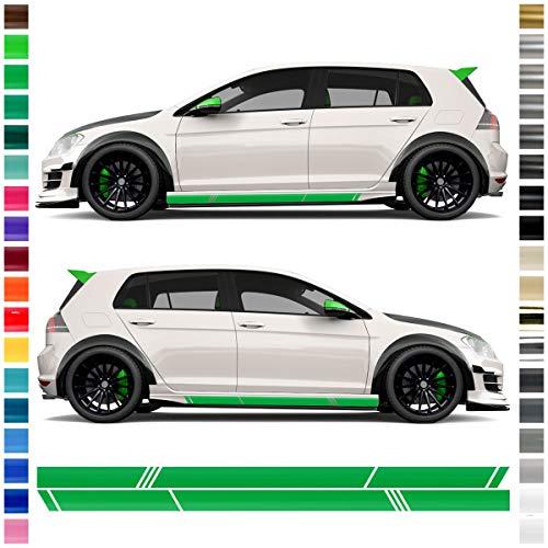 Auto-Dress® Seiten-Streifen Aufkleber Set/Dekor passend für VW Golf 7 in Wunschfarbe (Farbwunsch)
