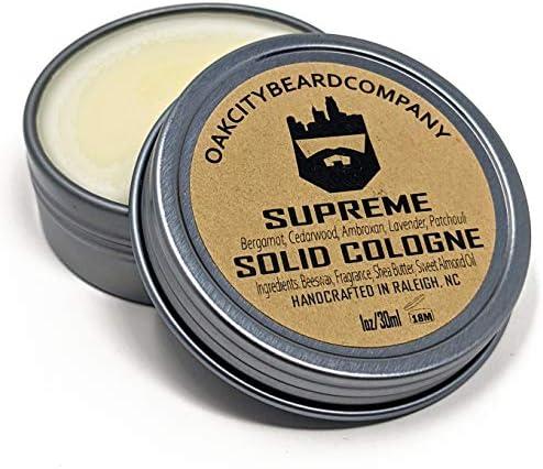 OakCityBeardCo Supreme Men s Solid Cologne 1oz Bergamot Cedarwood Amber Lavender Patchouli product image
