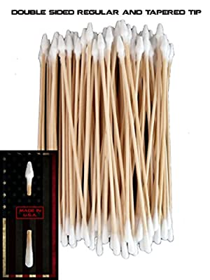 (Single Extra Large Tip) Type-III 100pc Gun Cleaning 6 Inch American Made Cotton Swabs