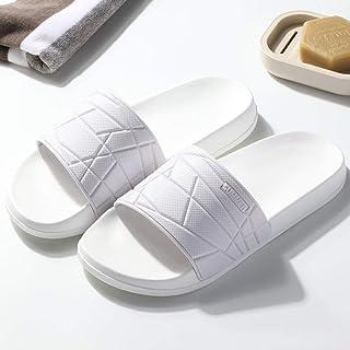 Classic Slide,Sandalias y Pantuflas de Fondo Grueso Antideslizante, Zapatos de baño de baño-40-41_BB Blanco,Zapatos de Pla...