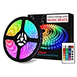 ➤SYNC TO MUSIC & MULTI COLOR MODE:LED Strip Lights Change Colour and Sync with Music. Depend on the genre of music, the lights colors will change to follow the rhythm or melody.No need to connect it to Bluetooth or download apps. Support 16 colors lo...