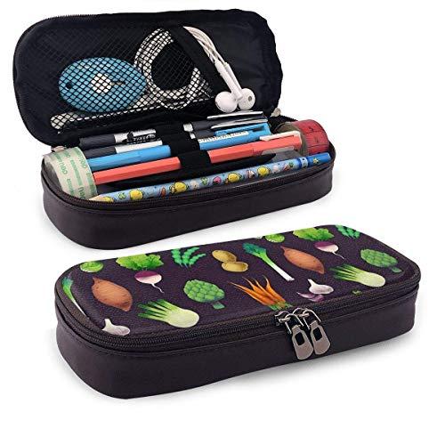 Oficina y papelería Bolígrafos, lápices y útiles de escritura Estuches Synthetic Leather Pen Case Lobster Pencil Pouch Holder Zippered Pencil Pen Pouch Case Holder Bag for School Work Office