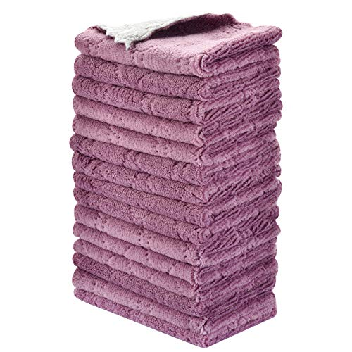 15PCS OstWony Reusable Cleaning Cloths, Kitchen Towels Dish Towels, 6 x 10 inch, Super Absorbent Multipurpose Dish Cloths, for Furniture Rags, Kitchen Cloths, Tableware Quick-Drying Towels