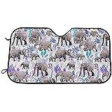 UQ Galaxy Parasol De Coche,Dulces Elefantes En Gris Elegante Ventana De Vehículo Sombrillas para SUV Vehículo Monovolumen 70 * 130cm