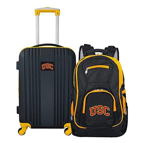 Sale!! Denco NCAA USC Trojans 2-Piece Luggage Set, BLACK, 21