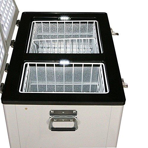 Whynter FM-62DZ 62 Quart Dual Zone Portable Fridge, AC 110V/ DC 12V True Freezer for Car, Home, Camping, RV-8°F to 50°F, One Size, Gray