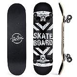 BELEEV Skateboard 31x8 inch Completo Cruiser Skateboard per Bambini, Giovani e Adulti, 7 Strati di Acero...