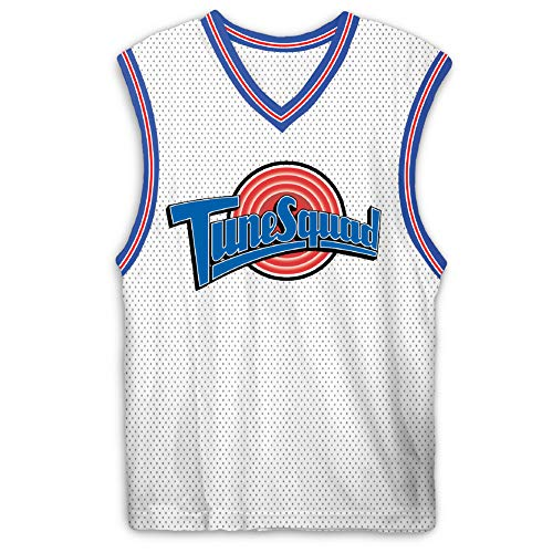 space jam Mens Classic Tank - Tune Squad Monstars & Bugs Bunny Jersey 90's Classic Tank Top (White Bugs, XX-Large)