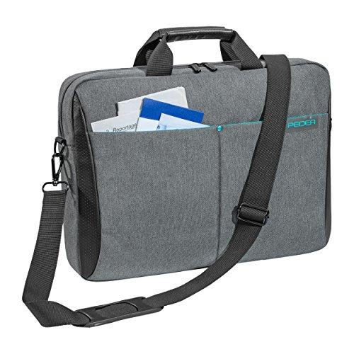 Pedea Laptoptasche Lifestyle Notebook Tasche bis 156 Zoll 396 cm Umhangetasche mit Schultergurt Grau
