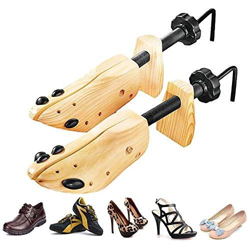 SJYSD-Bath Mat Zapatero Ajustable/Soporte Multifuncional de Pino para Zapatos 39-41 Código No. (un par)