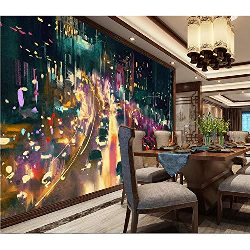 Pbbzl 3D-achtergrondafbeeldingen, fotobehang met mooi motief, van papier voor de stad en nacht, zie fotobehang in de keuken 3D 200 x 140 cm