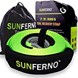 Sunferno Recovery Tow Strap 35000lb - Recover Your Vehicle Stuck in Mud/Snow - Heavy Duty ...