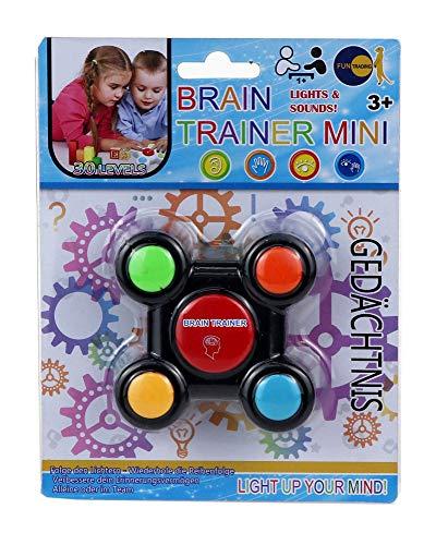 Fun Trading 4860 - Brain Trainer Mini, Gedächtnis und Lernspiel mit Licht und Sound, inklusive Batterien