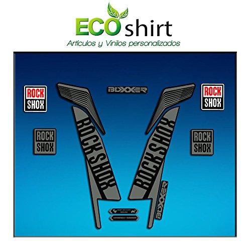 Ecoshirt BX-8Q2Y-K9MF Aufkleber Stickers Fork Rock Shox Boxxer World Cup 2016 Am78 Aufkleber Decals Autocollants Adesivi Forcela Gabel Rockshox, Grau