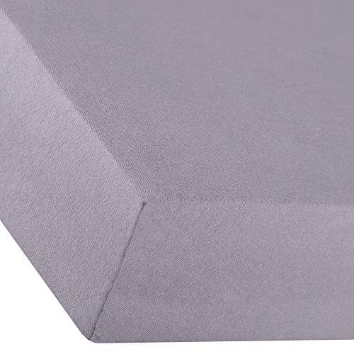 aqua-textil Premium Spannbettlaken 180x200-200x220 cm dunkel grau Baumwolle Bettlaken Betttuch Elastan Spannbetttuch