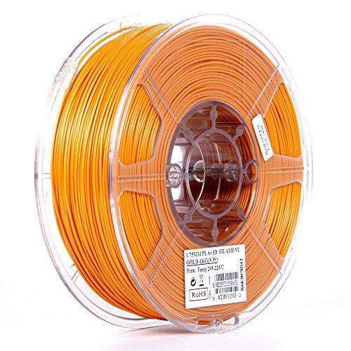 eSUN 1.75mm Gold PLA PRO (PLA+) 3D Printer Filament 1KG Spool (2.2lbs), Gold